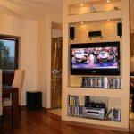 Ścianka z telewizorem