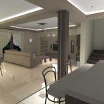 dom prywatny salon otwarty na kuchnie