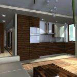 mieszkanie kuchnia z przedpokojem