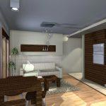 mieszkanie wnęka nad sofą