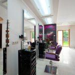 Salon fryzjerski, design, podswietlenie