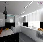 białe lakieorwane frony w kuchni