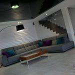 salon, sofa szara