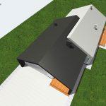 dach dwuspadowy podwojny garaz
