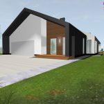 prosty dom z dachem dwuspadowym